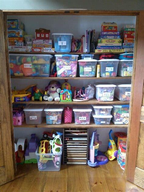Coat Closet Turned Into Organized Toy Closet Organize
