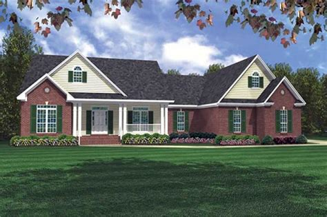 country ranch plan bedrms baths sq ft