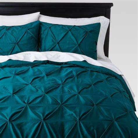 Pinch Pleat Duvet Cover by Teal Pinch Pleat Duvet Cover King 3pc Threshold Target