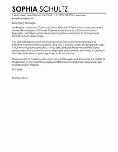 best communications specialist cover letter examples With sample cover letter for communications job