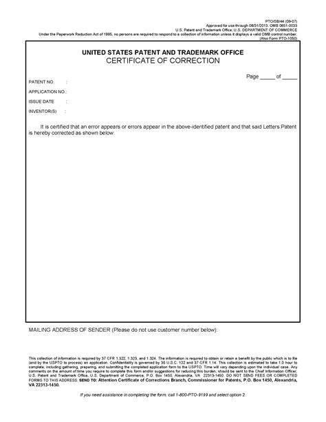 chapter  correction  patents fpo resources