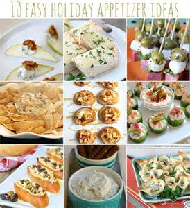 easy holiday appetizer ideas