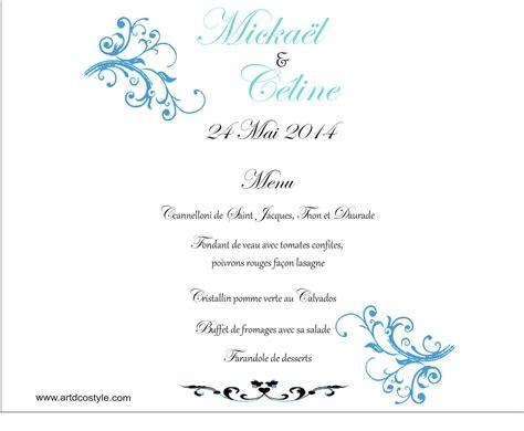 photophore menu mariage avec impression menu photophore artdcostyle d 233 corations de mariage location housse de chaise mariage
