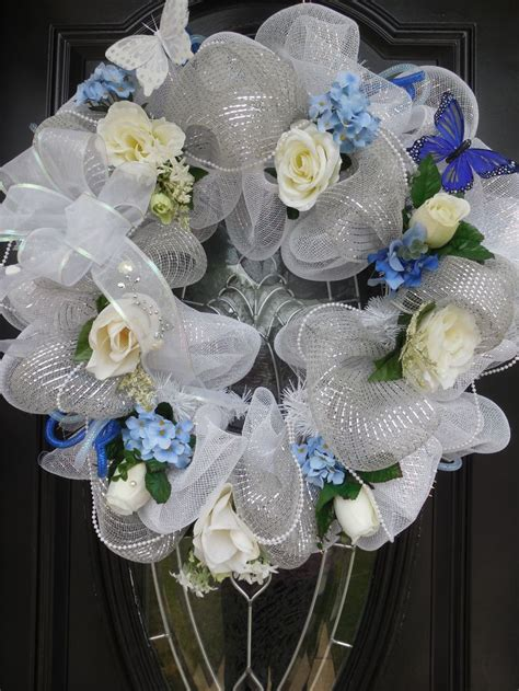 Weddinganniversary Deco Mesh Wreath Roezees Wreaths