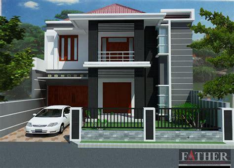 desain rumah minimalis  lantai beserta denahnya
