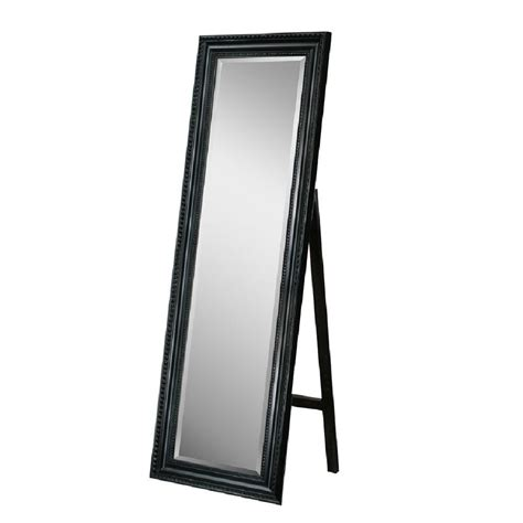 floor mirror home depot deco mirror 18 in x 64 in carousel floor mirror in black 8806 the home depot