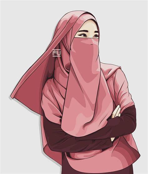 vector hijab niqab niqabis   femme hijab