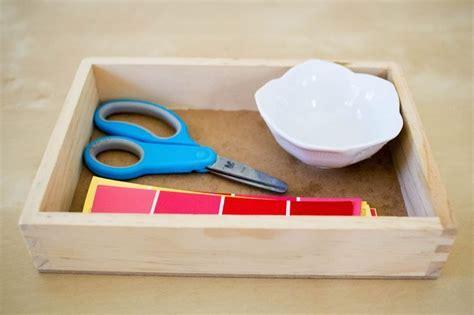 montessori art trays   year olds   easy