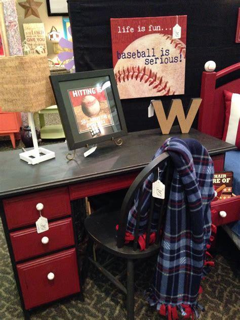 adorable desk  match  baseball bed baseball