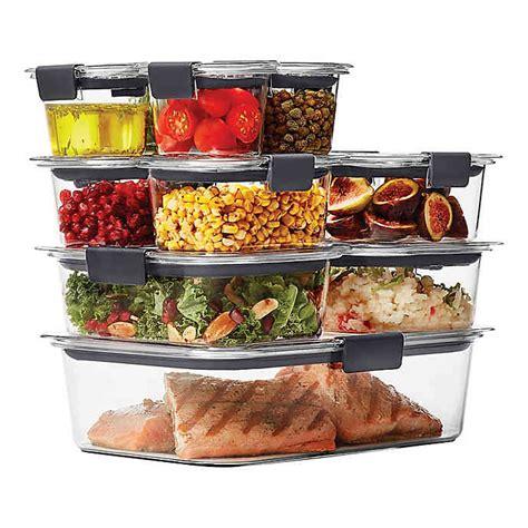 rubbermaid brilliance  piece food storage container set