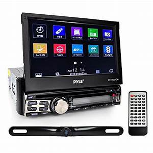 Pyle 7in Single Din Touchscreen Bluetooth Head Unit Flip