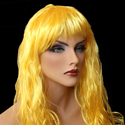 Golden Colored Hair by My Wig Is Bright Friggin Yellow Help