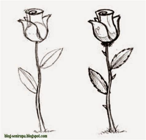 gallery menggambar sketsa bunga mawar