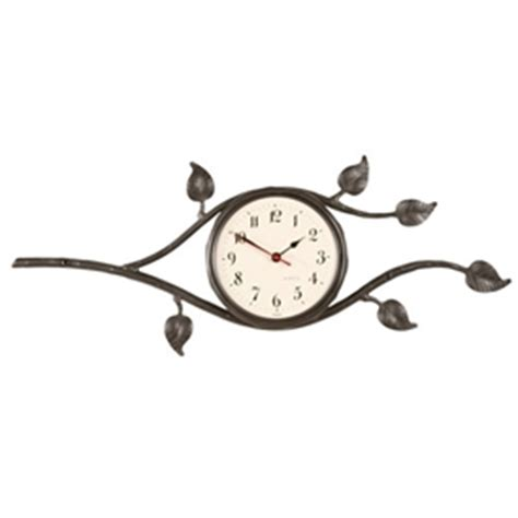 wrought iron wall clock wrought iron leaf collection wall clock by county 1669