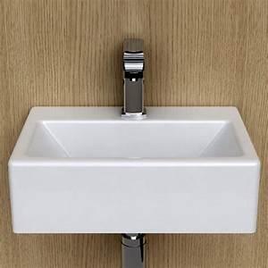 Lave Main Ceramique : lave main gain de place 43x30 cm en c ramique pure ~ Edinachiropracticcenter.com Idées de Décoration