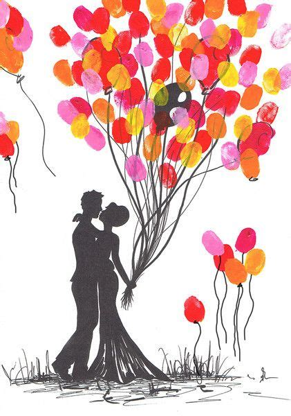 wedding tree brautpaar leinwand handgemalt unikat