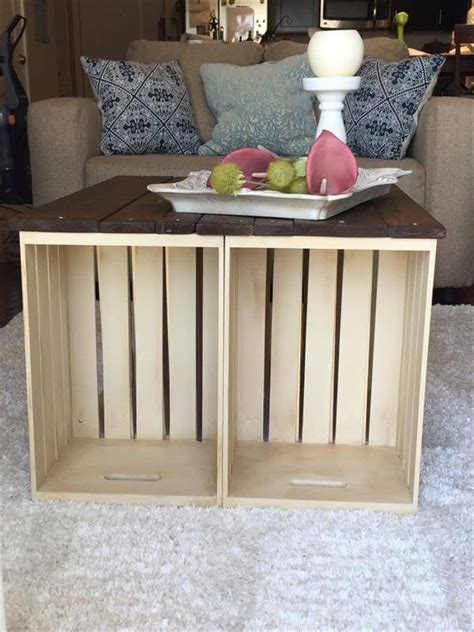 20 diy wooden crate coffee tables guide patterns. DIY Pallet and Crate Coffee Table - 101 Pallets