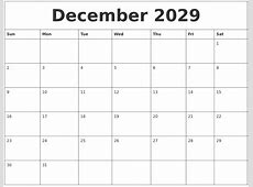 August 2029 Calanders