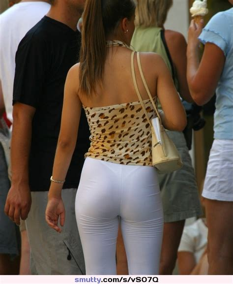 Whiteleggings Leggings Spandex Yogapants Bigass Slut
