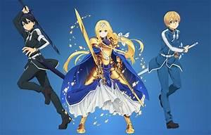 Wallpaper, Kawaii, Girl, Sword, Gold, Armor, Anime, Beautiful, Pretty, Ken, Blade, Hero, Cute