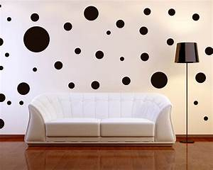 decorations simple but elegant polka dot wall decor for With kitchen colors with white cabinets with polka dot wall art