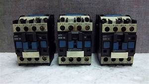 Lot Of 3 Telemecanique Contactor Overload Relays Lc1 D09