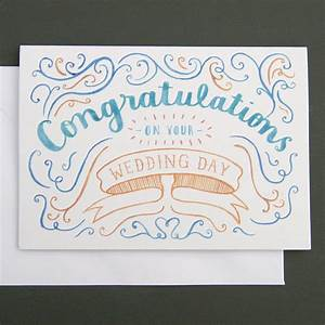 39congratulations39 wedding card by nic farrell illustration With images of wedding congratulation cards