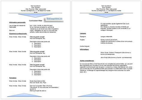 Cv Vorlage by Gratis Bewerbung Franz 246 Sisch Anschreiben Lebenslauf