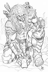 Predator Coloring Pages Vs Alien Aliens Printable Drawings Deviantart Tattoo Adult Boys Tribute Drawing Sketches Avp Sheets Hunter Elsa Versus sketch template