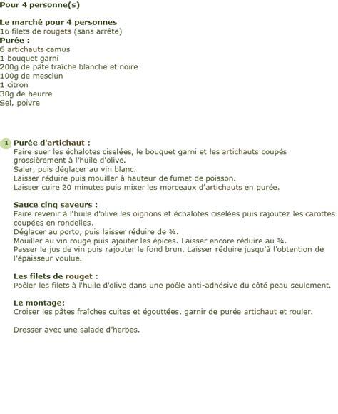 cuisiner les rougets recette le damier de cannelloni en purée d 39 artichauts