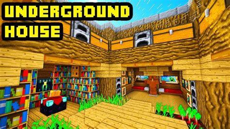 minecraft big underground house tutorial   build ideas  images underground homes