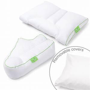 sleep yogatm side sleeper combo set of 2 pillow covers With combination sleeper pillow