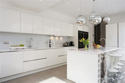 glossy white kitchen cabinets white gloss lacquer cabinets kitchen contemporary with