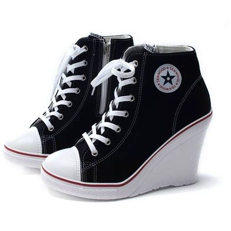 sepatu adidas casual www epicstep 39 s canvas high top wedges high heels casual