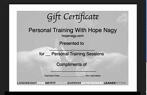 hope nagy39s motivatehopestrength blog health fitness With personal trainer gift certificate template