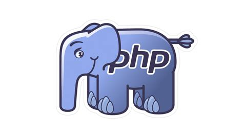 Php Elephant Vinyl Sticker