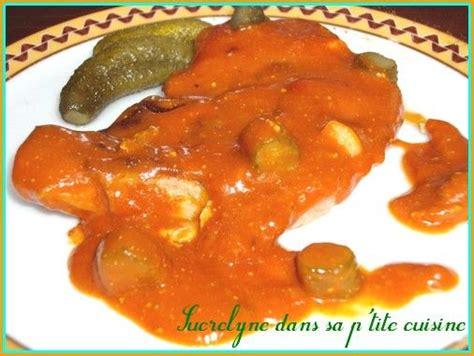 cuisine cote de porc côtes de porc à la sauce tomate et cornichons sucrelyne
