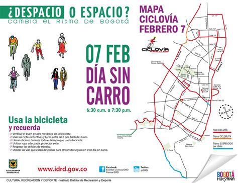 Conozca Las Rutas De La Ciclovía Para El Día Sin Carro En