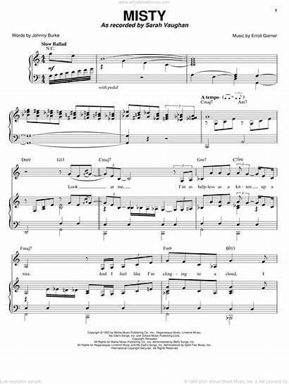 Piano Sheet Misty Vaughan Voice Guitar Sarah