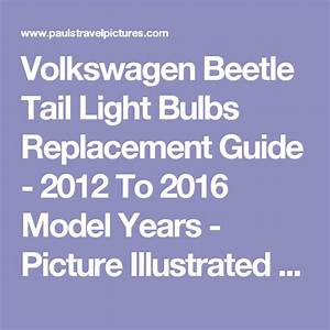 Volkswagen Beetle Tail Light Bulbs Replacement Guide