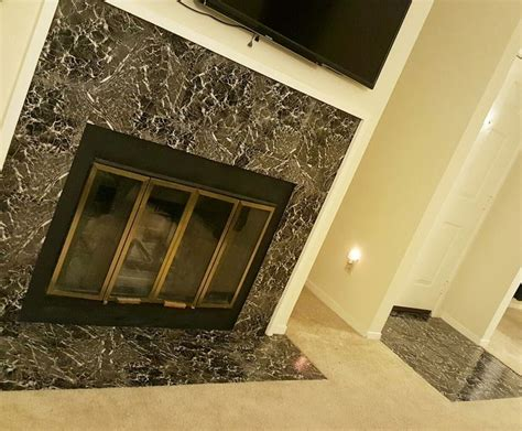 entryway and fireplace quot peel and stick tile quot misson