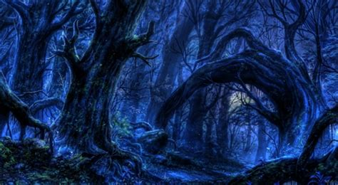 twisted forest   cg abstract background
