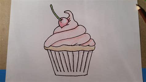 draw  cartoon cupcake youtube
