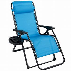 costway, oversize, lounge, chair, patio, heavy, duty, folding, recliner, gray, -, walmart, com