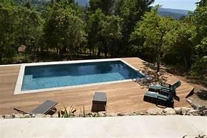 Bois Terrasse Piscine : fabrication et pose d 39 un deck de piscine bonnieux 84480 ~ Edinachiropracticcenter.com Idées de Décoration