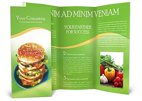 Food Brochure Templates by Fast Food Brochure Template Design Id 0000000048