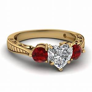 3 stone heart shaped engagement rings fascinating diamonds With red diamond wedding ring