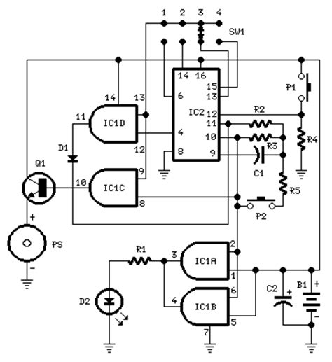 How Build Timed Beeper Circuit Diagram