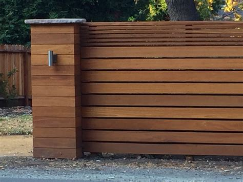 contemporary fence  pillar  danville ca