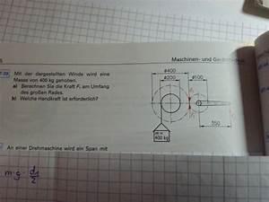 Masse Von Luft Berechnen : mit der dargestellten winde wird eine masse von 400kg angehoben umfangskraft und handkraft ~ Themetempest.com Abrechnung